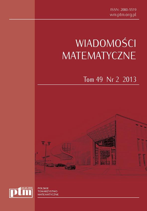 Wiadomości Matematyczne 49 (2) 2013