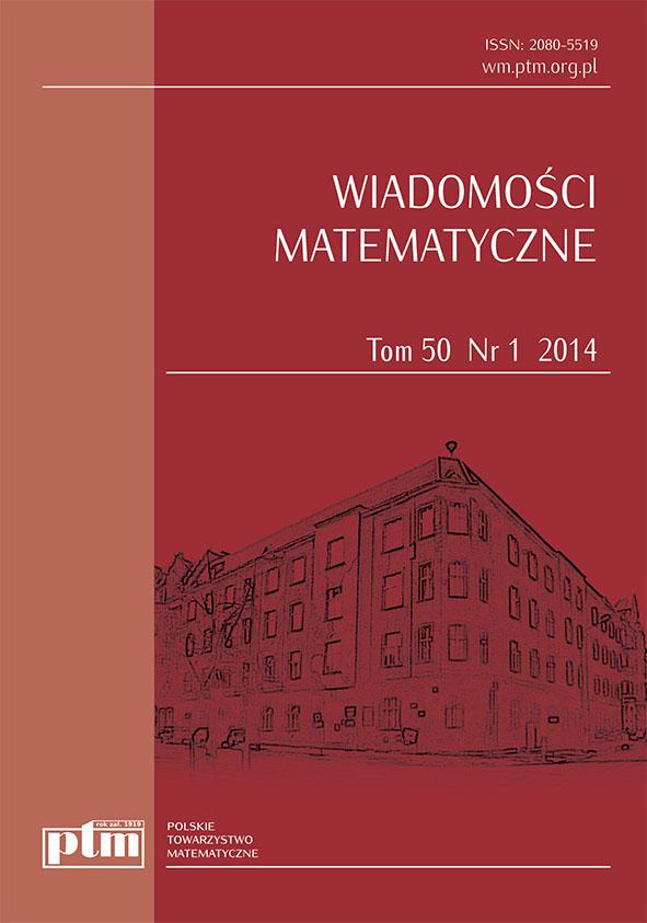 Okładka Wiadomości Matematycznych 50 (1) 2014